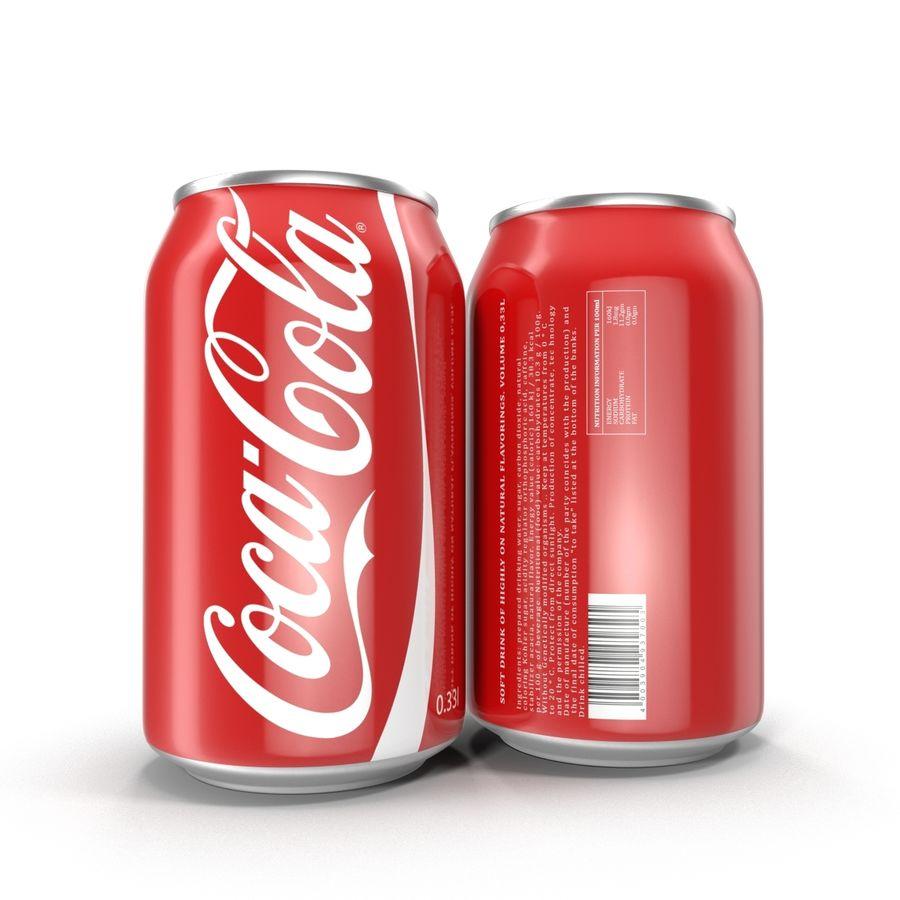 알루미늄 캔 0.33L Coca Cola 3D 모델 royalty-free 3d model - Preview no. 5