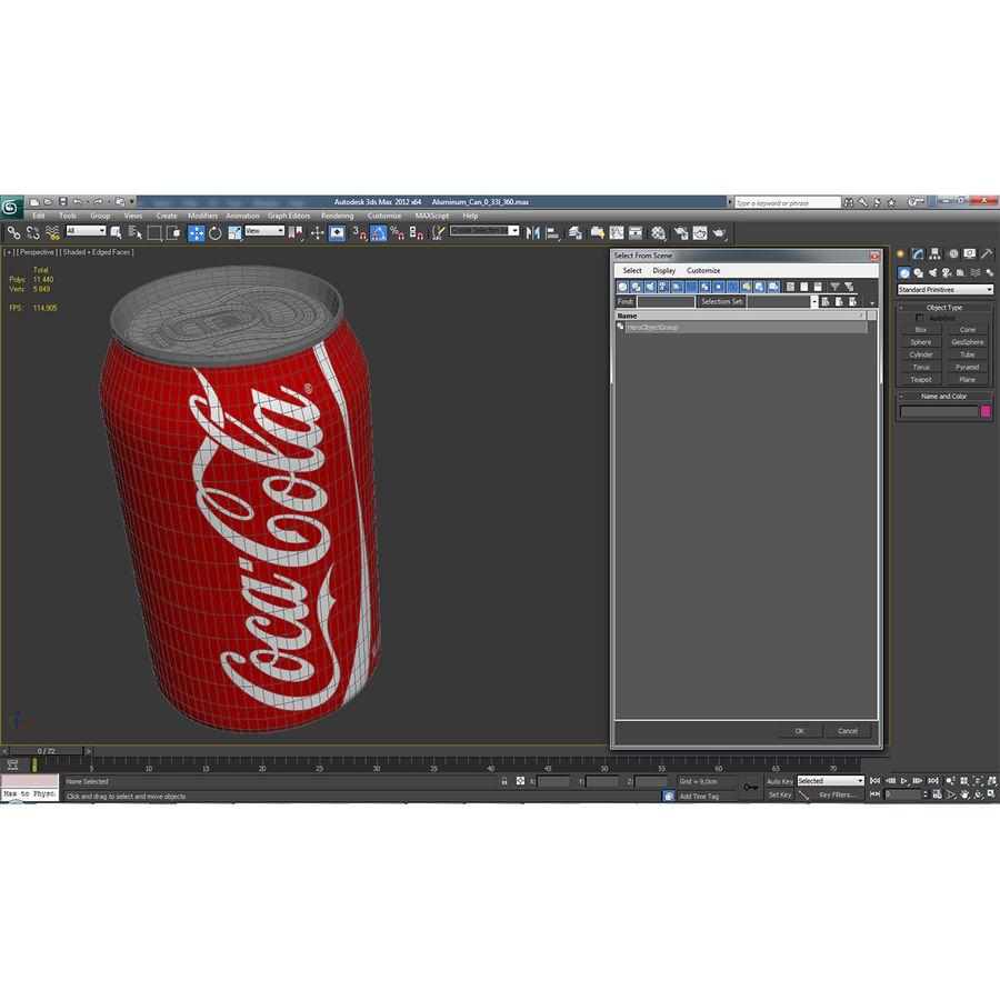 알루미늄 캔 0.33L Coca Cola 3D 모델 royalty-free 3d model - Preview no. 17