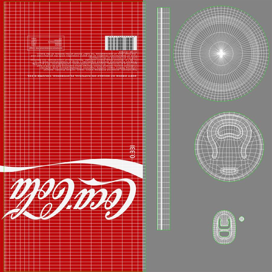 알루미늄 캔 0.33L Coca Cola 3D 모델 royalty-free 3d model - Preview no. 15