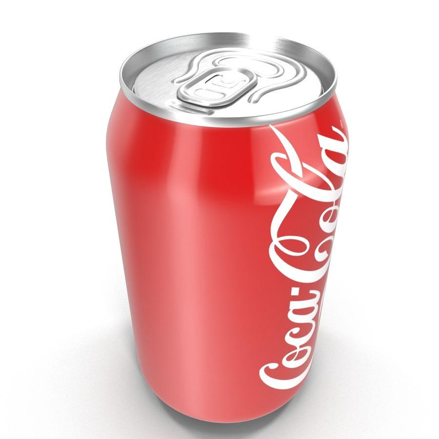 알루미늄 캔 0.33L Coca Cola 3D 모델 royalty-free 3d model - Preview no. 12