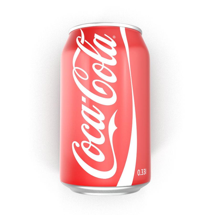 알루미늄 캔 0.33L Coca Cola 3D 모델 royalty-free 3d model - Preview no. 8