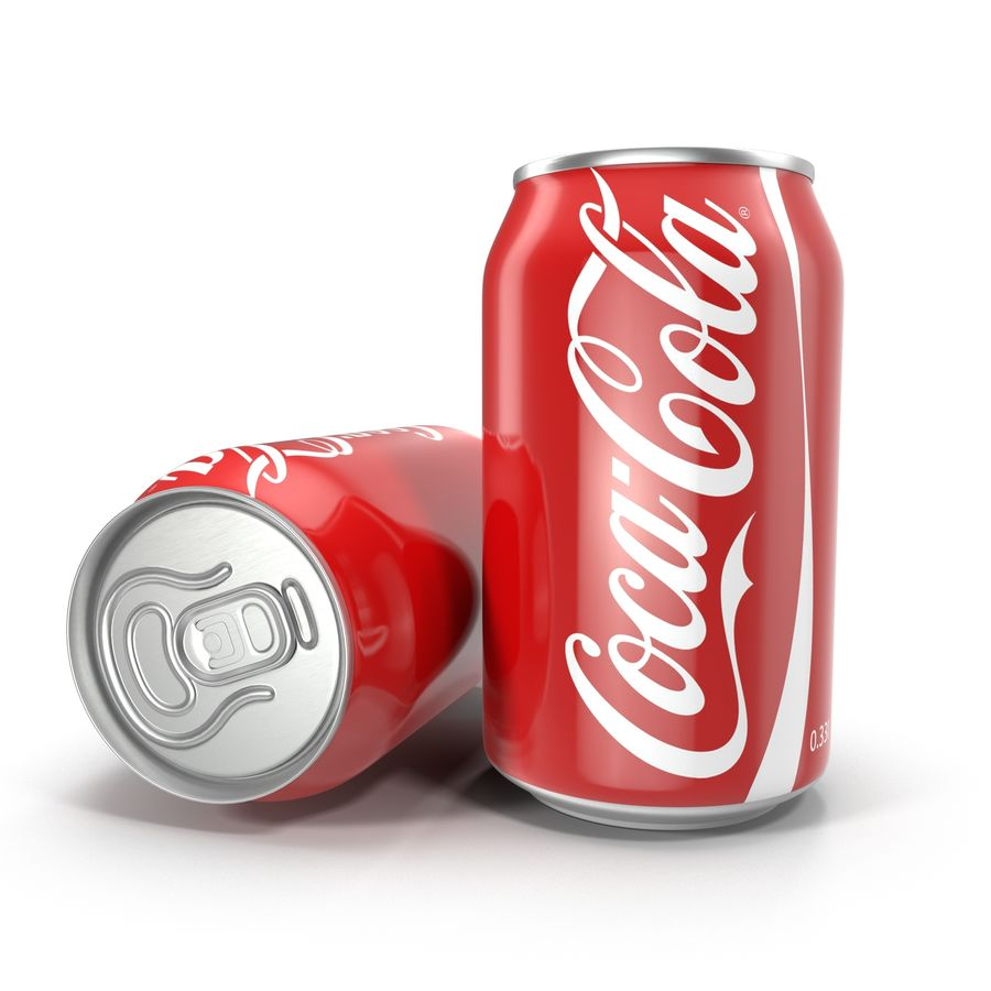 알루미늄 캔 0.33L Coca Cola 3D 모델 royalty-free 3d model - Preview no. 2