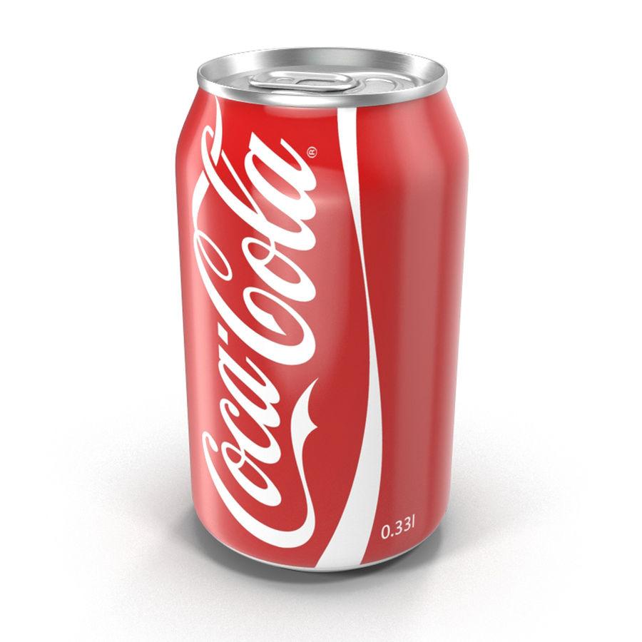 알루미늄 캔 0.33L Coca Cola 3D 모델 royalty-free 3d model - Preview no. 3