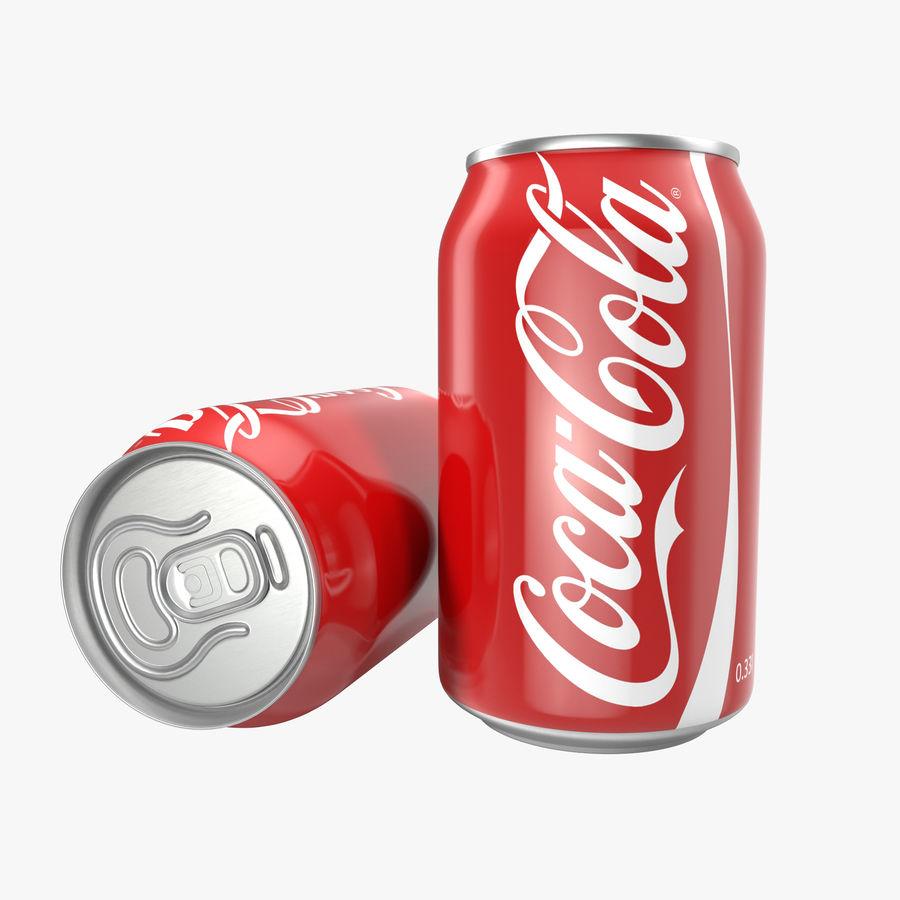 알루미늄 캔 0.33L Coca Cola 3D 모델 royalty-free 3d model - Preview no. 1