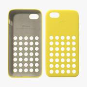 iPhone 5c Case Yellow 3D Model 3d model