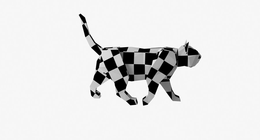 Paper Cat royalty-free 3d model - Preview no. 12