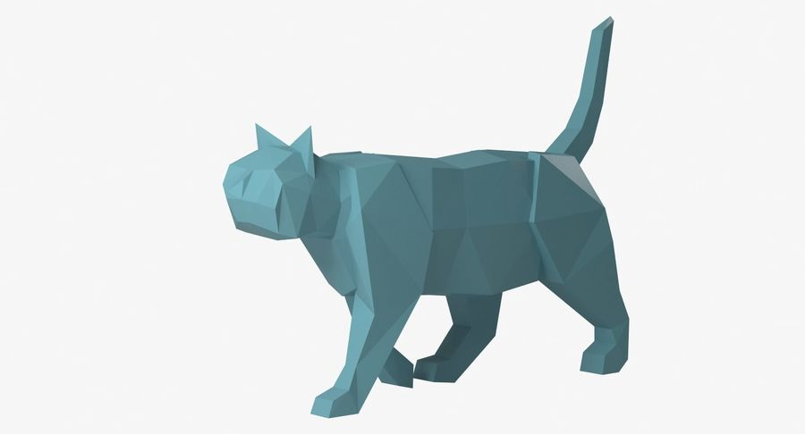 Paper Cat royalty-free 3d model - Preview no. 4