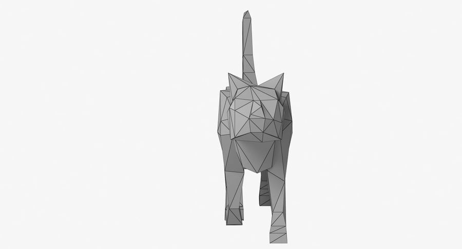 Paper Cat royalty-free 3d model - Preview no. 10