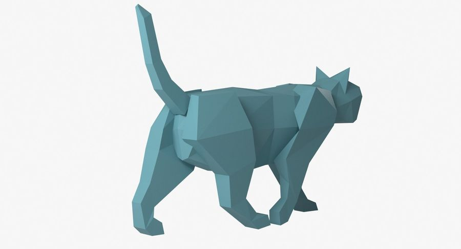 Paper Cat royalty-free 3d model - Preview no. 5