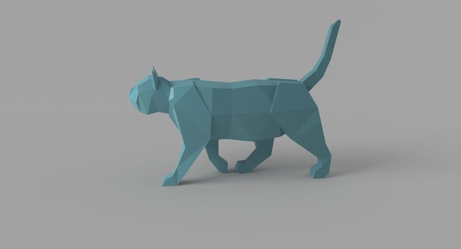 Paper Cat royalty-free 3d model - Preview no. 3