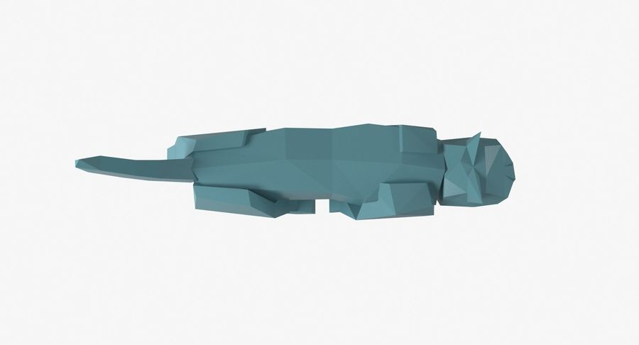 Paper Cat royalty-free 3d model - Preview no. 8