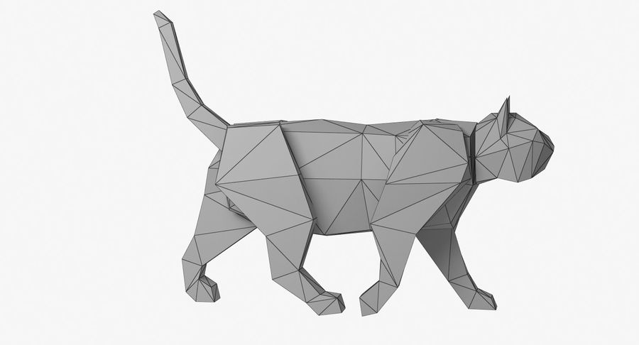 Paper Cat royalty-free 3d model - Preview no. 9