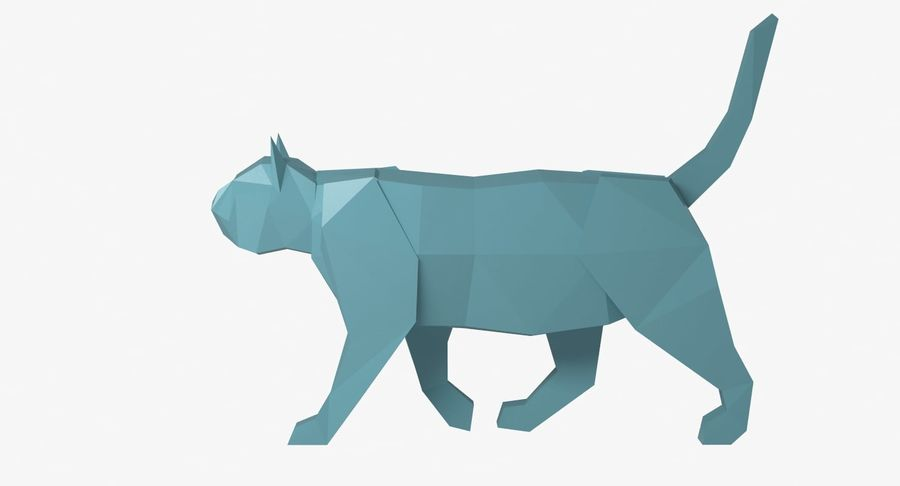 Paper Cat royalty-free 3d model - Preview no. 7