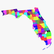 Florida Counties 3d model