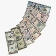 US dollars collection 3d model