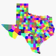 Condados de Texas modelo 3d
