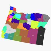 Hrabstwa Oregon 3d model