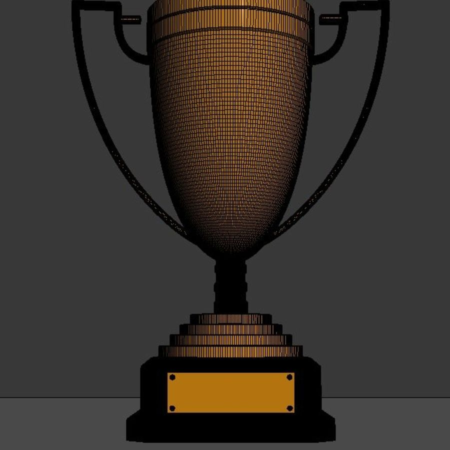 High Quality Gold, Silver and Bronze Award Cups royalty-free 3d model - Preview no. 10