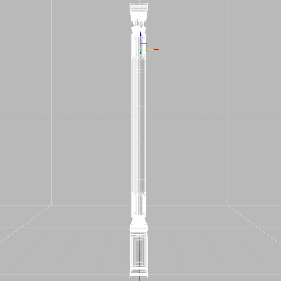 column 1 royalty-free 3d model - Preview no. 9