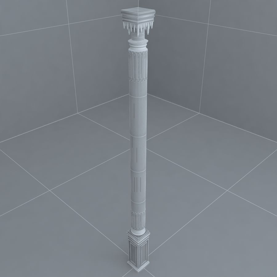 column 1 royalty-free 3d model - Preview no. 6