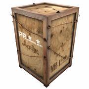 Scatola di legno pesante 1 3d model
