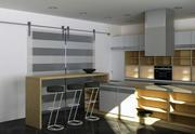 Zestaw kuchenny w minimalistycznym stylu wyspy 3d model