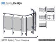 Wiszący panel balustrad 3DMD V4.5 3d model