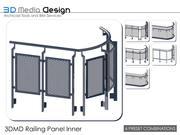 Panneau de garde-corps 3DMD intérieur V4.5 3d model