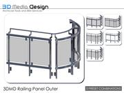 3DMD Railing Panel Outer V4.5 3d model