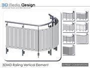Element pionowy balustrady 3DMD V4.2 3d model