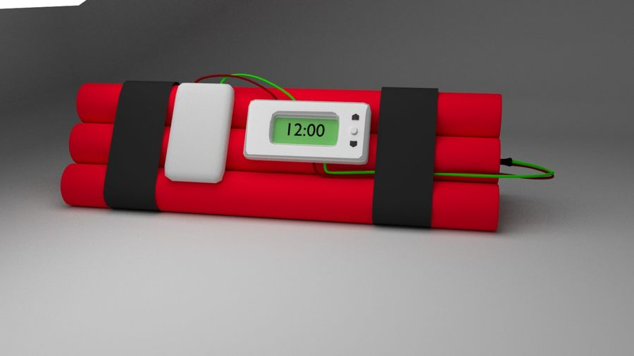 timed explosives royalty-free 3d model - Preview no. 4