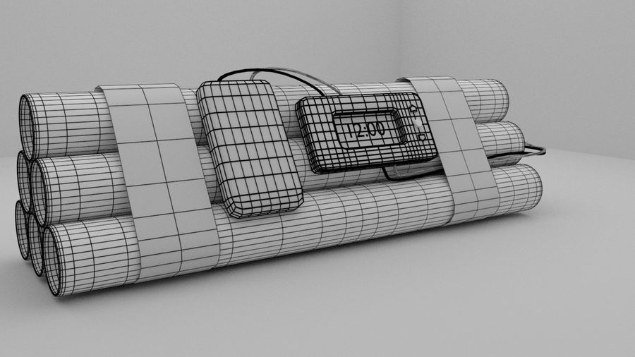 timed explosives royalty-free 3d model - Preview no. 7