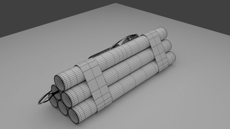 timed explosives royalty-free 3d model - Preview no. 8