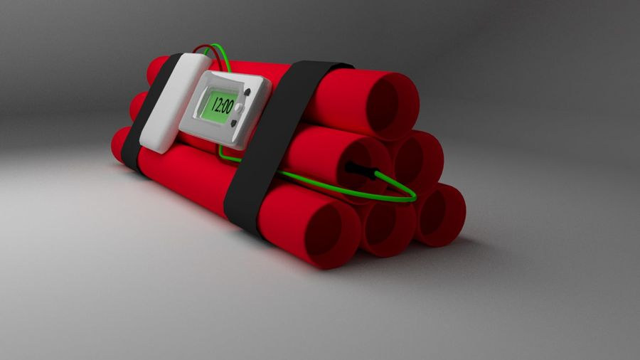 timed explosives royalty-free 3d model - Preview no. 2