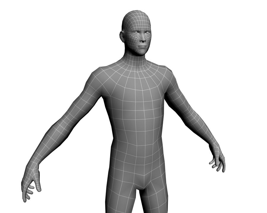 Male human character royalty-free 3d model - Preview no. 10