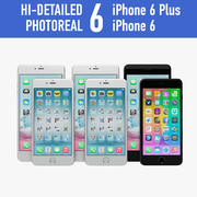 Apple iPhone 6 And iPhone 6 Plus All Colors 3d model