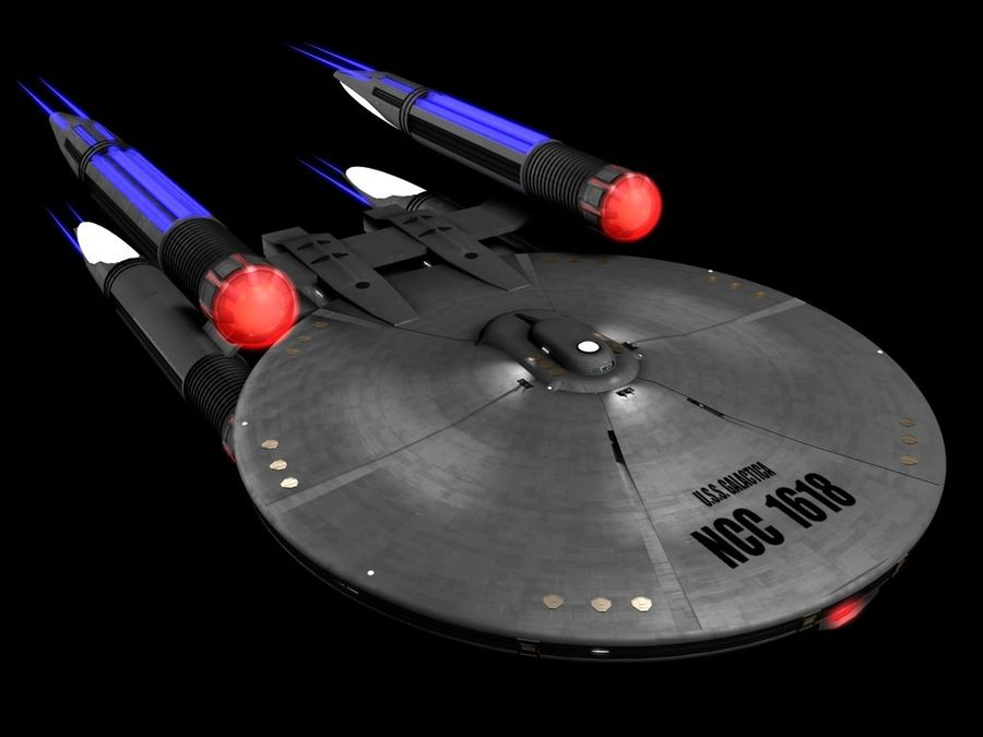 USS Galactica royalty-free 3d model - Preview no. 1