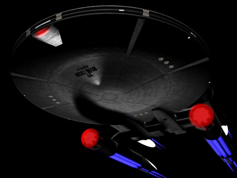 USS Galactica royalty-free 3d model - Preview no. 2