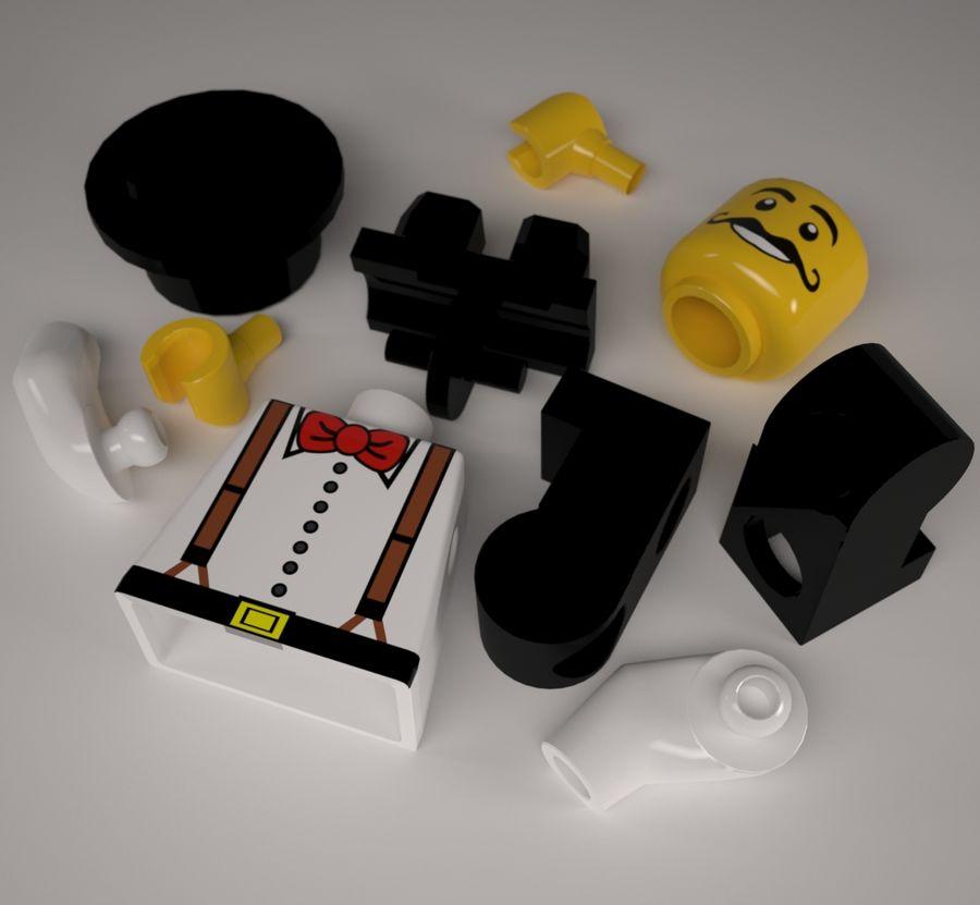 Lego karaktär royalty-free 3d model - Preview no. 5