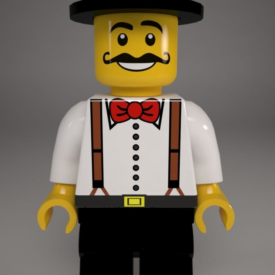 Lego karaktär royalty-free 3d model - Preview no. 2
