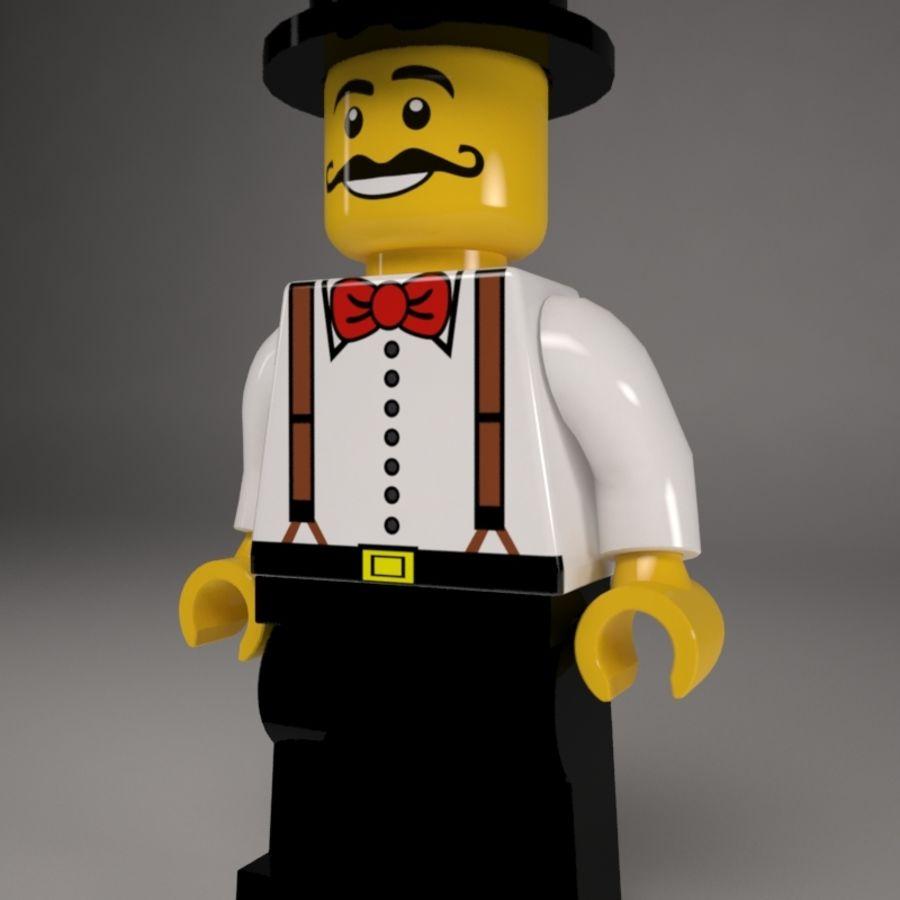Lego karaktär royalty-free 3d model - Preview no. 3