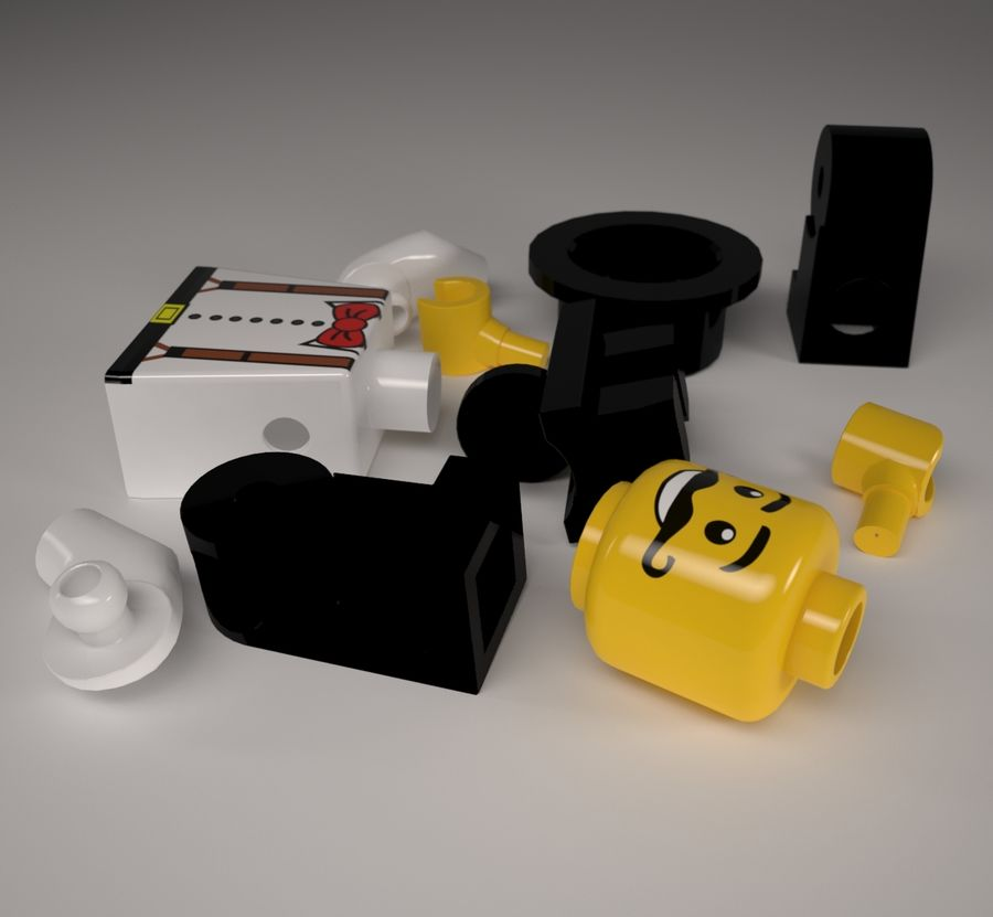 Lego karaktär royalty-free 3d model - Preview no. 6