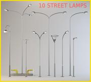 10通りのランプ 3d model