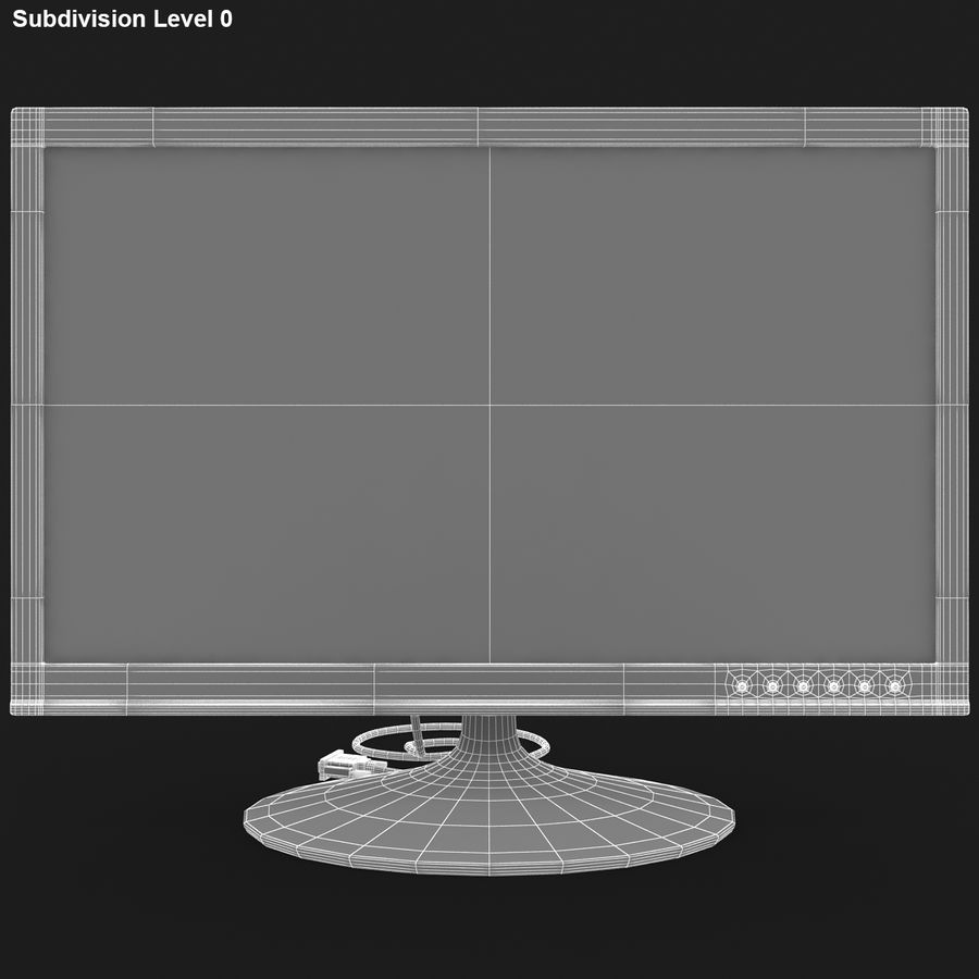 Computer Screen royalty-free 3d model - Preview no. 14