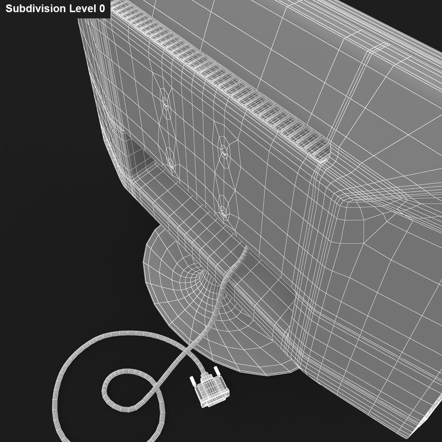 Computer Screen royalty-free 3d model - Preview no. 10