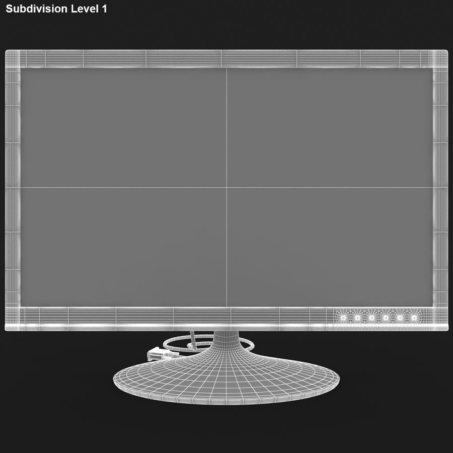 Computer Screen royalty-free 3d model - Preview no. 15