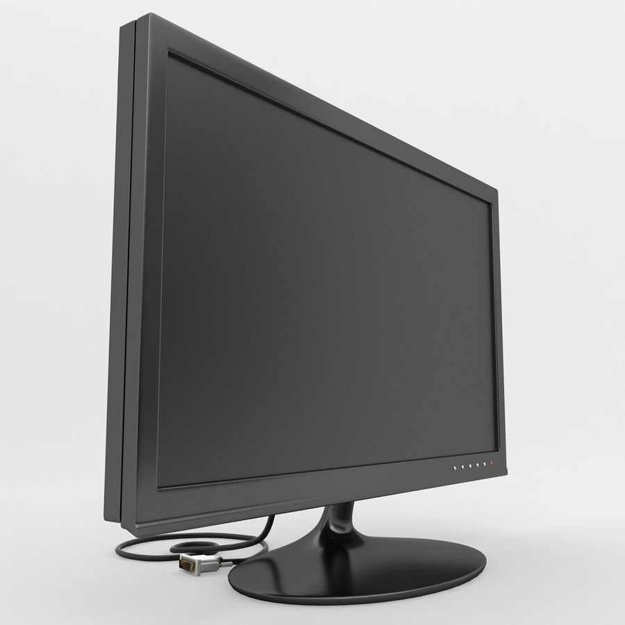 Computer Screen royalty-free 3d model - Preview no. 3