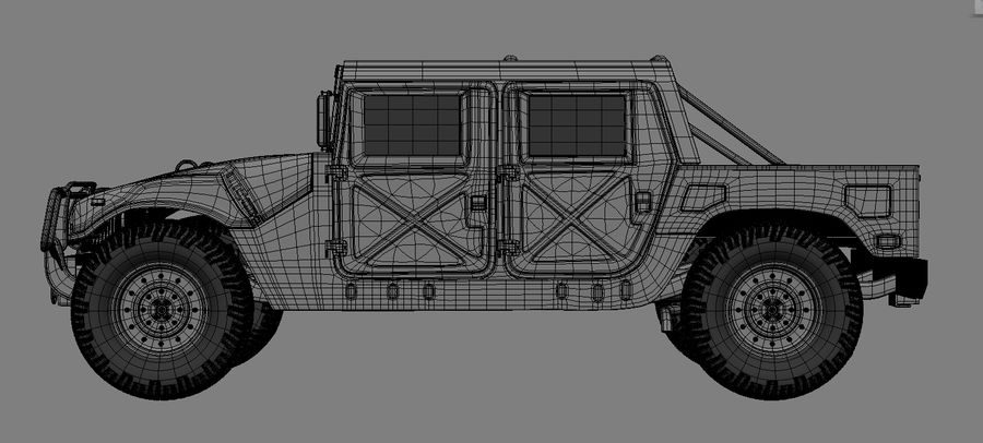 hummer royalty-free 3d model - Preview no. 2
