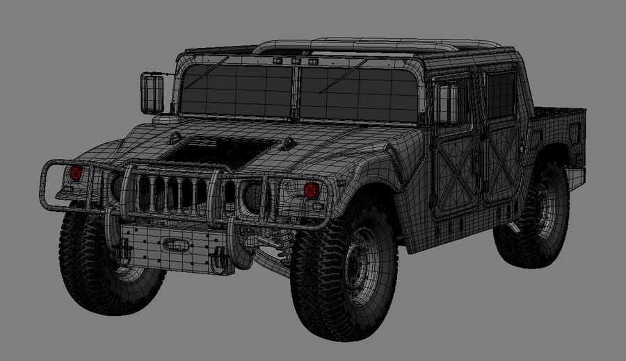 hummer royalty-free 3d model - Preview no. 5