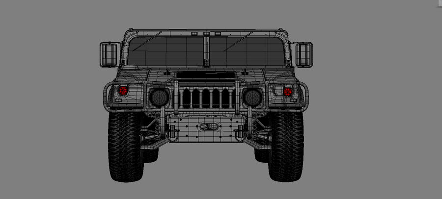 hummer royalty-free 3d model - Preview no. 1